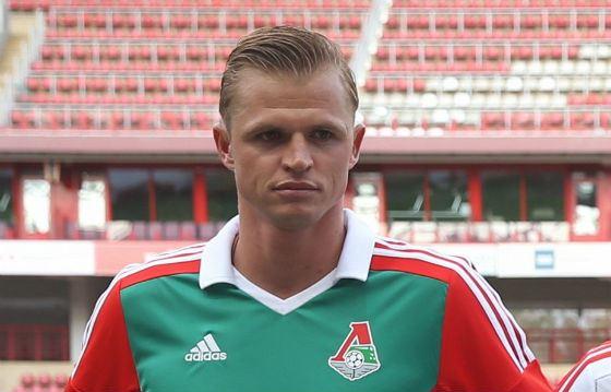 Футболист «Локомотива» Дмитрий Тарасов