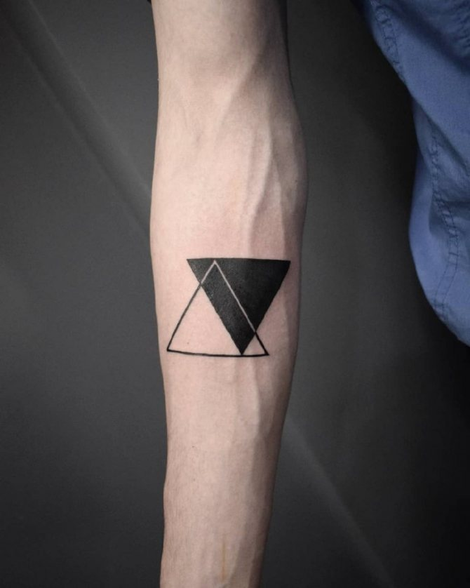 геометрические тату