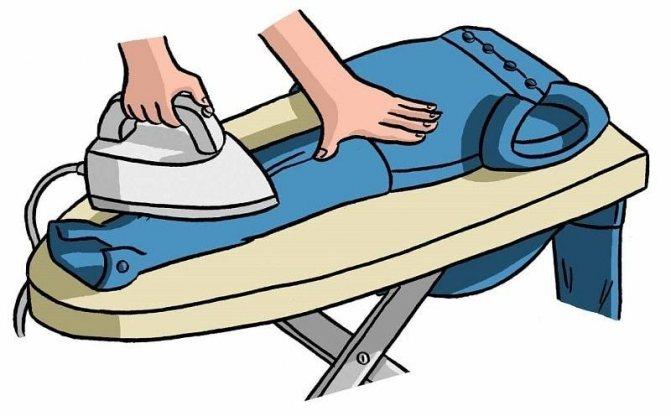 Гладим рукава первыми