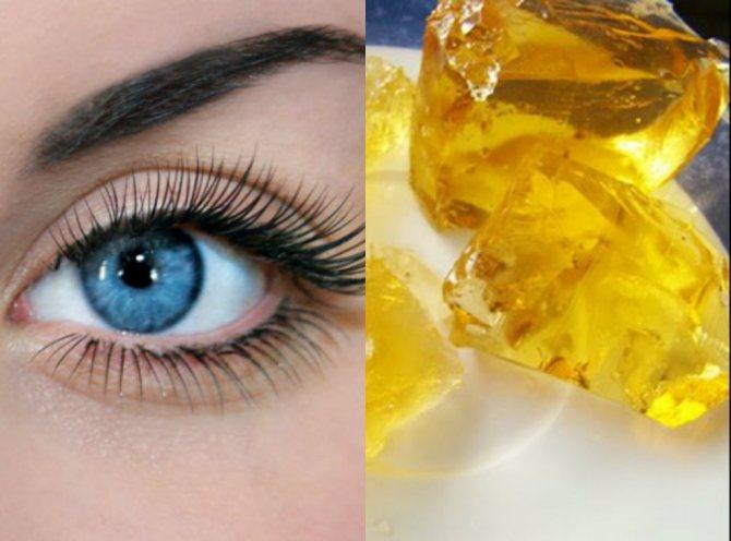глаз и желатин