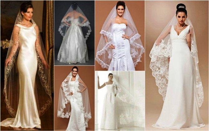 Головной убор невесты под названием Вальс