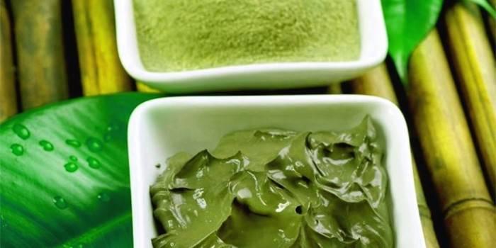 ,Готовая маска из зеленой глины