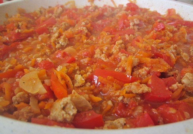 готовое блюдо на сковороде