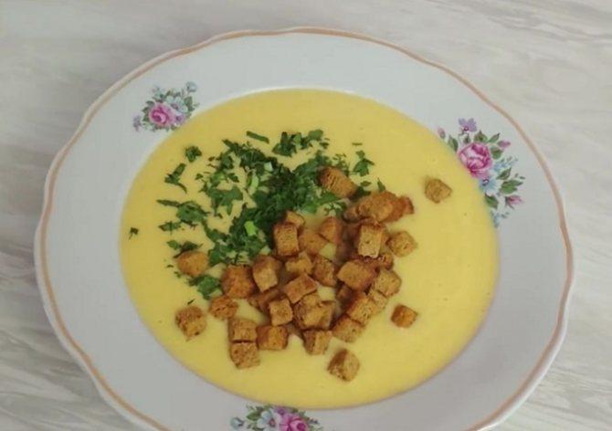 Готовый суп-пюре с курицей