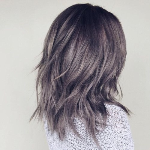 Графитовый цвет на коротких, длинных волосах. Фото, кому подойдёт, лучшие краски