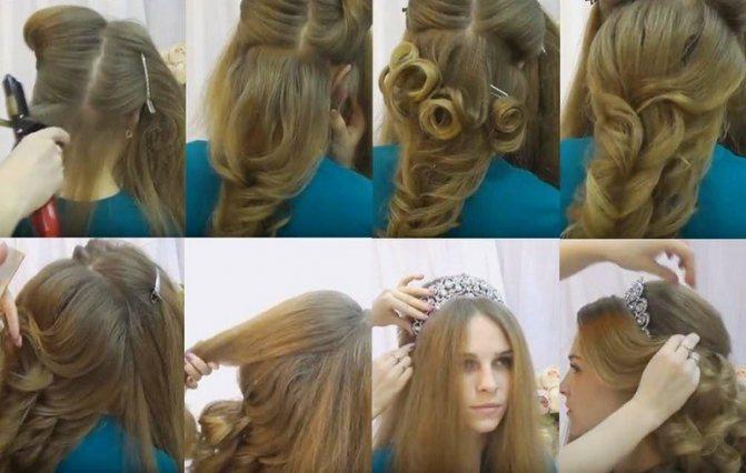 Греческая коса на свадьбу, выполнение пошагово с фото