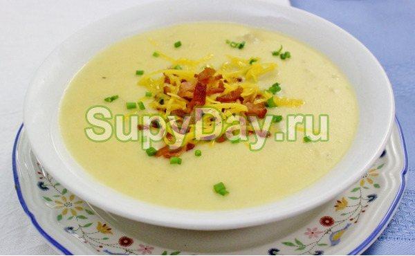 Грибной крем-суп с беконом и шиитаке