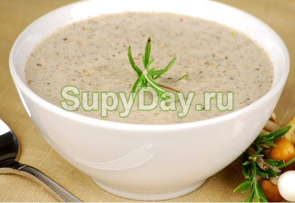 Грибной крем-суп с кабачками