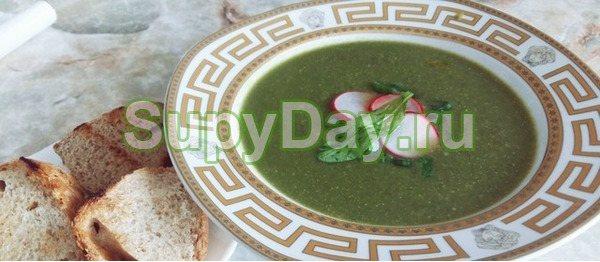 Грибной крем-суп с редисом
