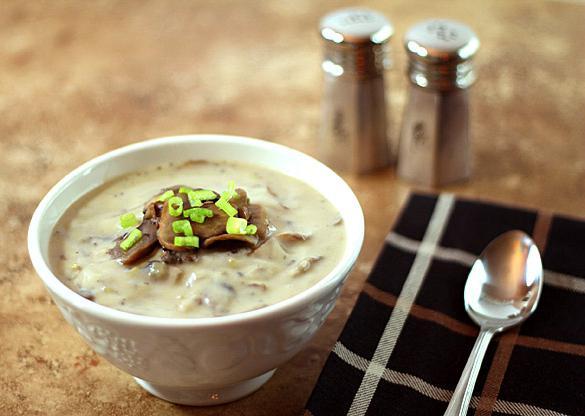 Грибной суп-пюре из грибов