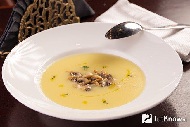 Грибной суп с плавленым сырком