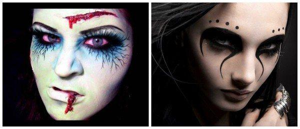 Грим ведьмы с акцентом на глаза