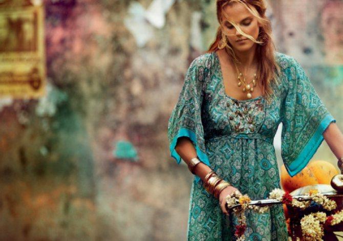Хиппи шик одежде для городской девушки