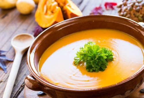 Холодный суп из тыквы