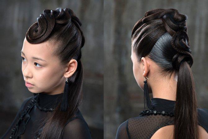 Хвост должен состоять из волосинок одного размера,