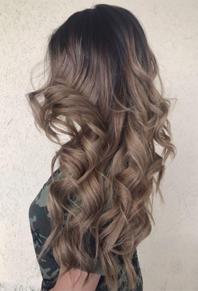 ice moccha 696x1024 - Каштановый цвет волос: оттенки, фото, краска, как покраситься