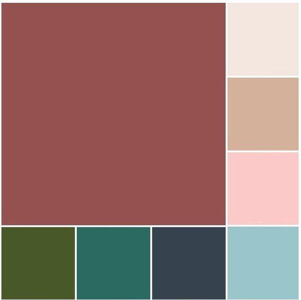 Идеальное сочетание цвета марсала с другими цветами