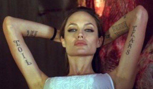 idei-dlya-tatuirovok - Татуировки Анджелины Джоли - - фото