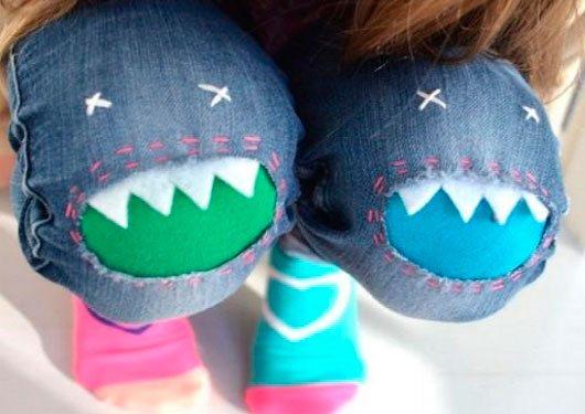 идея переделки джинсов (хищные коленки)