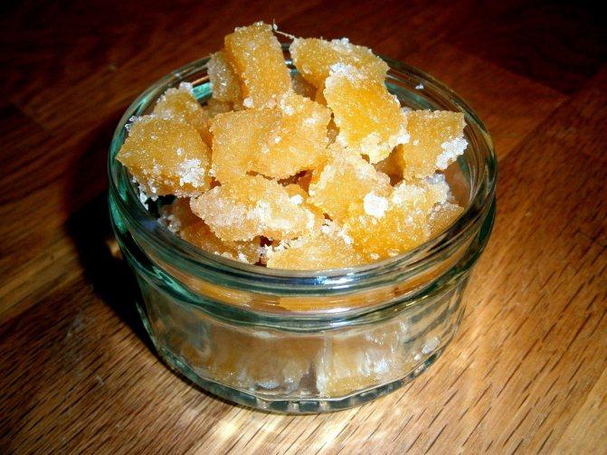 Имбирь в сахаре, хранение