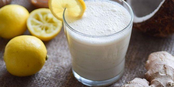Имбирно-лимонный смузи