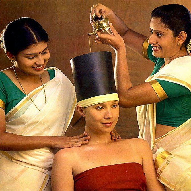 Индийская процедура по уходу за волосами