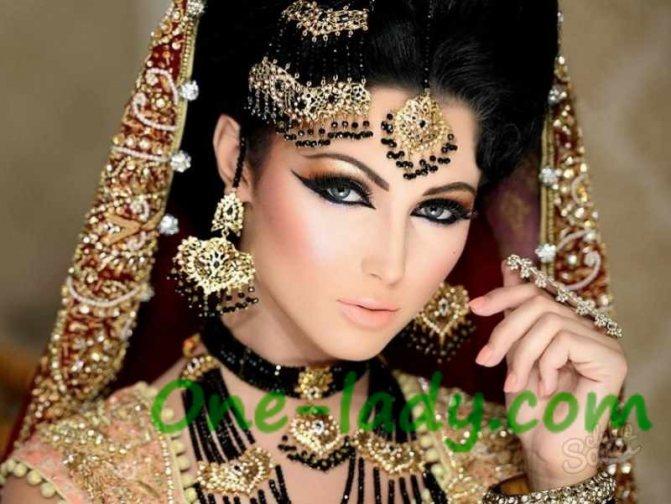 Индийский макияж фото