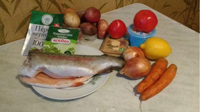 ингредиенты блюда из рыбы