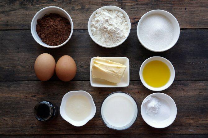 Ингредиенты десерта.