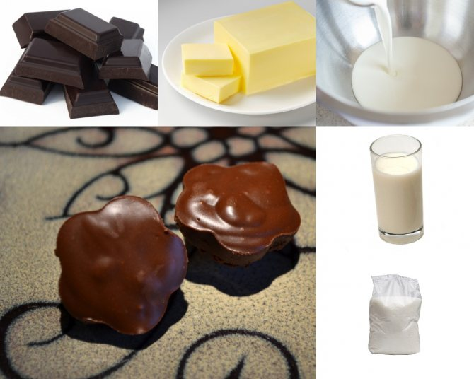 Ингредиенты для домашнего молочного шоколада