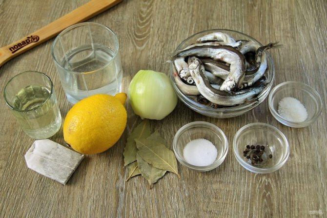 Ингредиенты для приготовления шкары