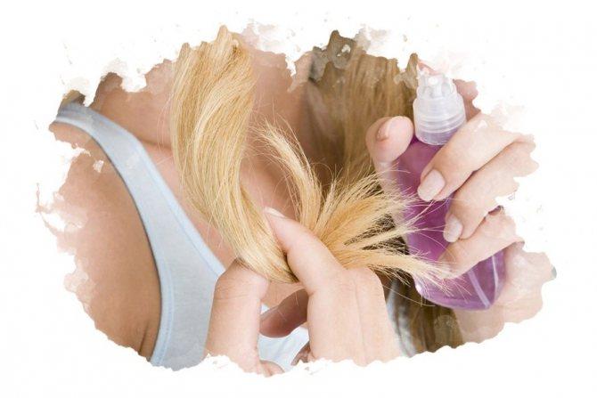 использование термозащиты для волос