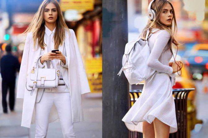 Итальянский шик в одежде в белом цвете