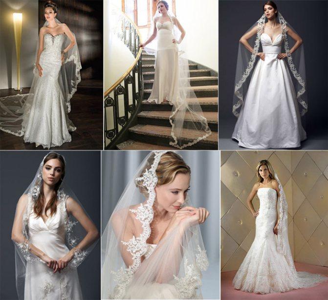 Итальянский стиль головного убора невесты