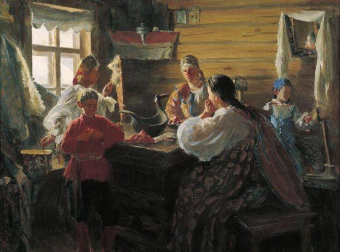 Иван Куликов. Зимним вечером. 1907 г.