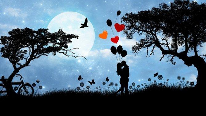 Изображение пары в зоне любви по фен-шуй