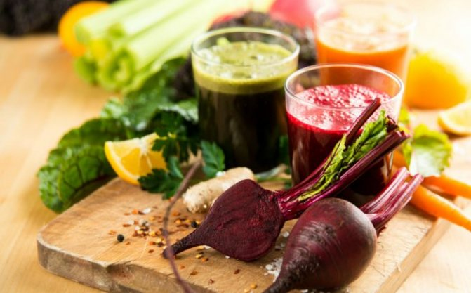 К свекольному соку можно добавить и сок других овощей