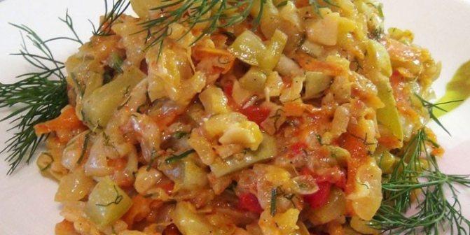 Кабачковое рагу с кабачками и овощами