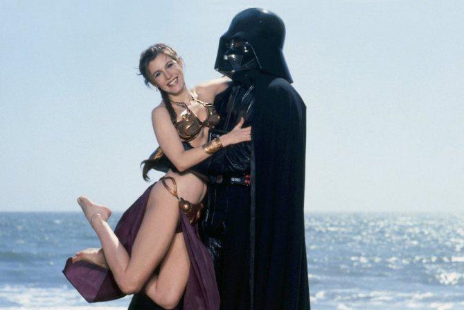 Кадр со съёмок фильма «Звёздные войны»
