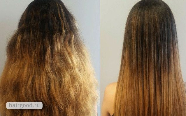 Как действует кератин на волосы
