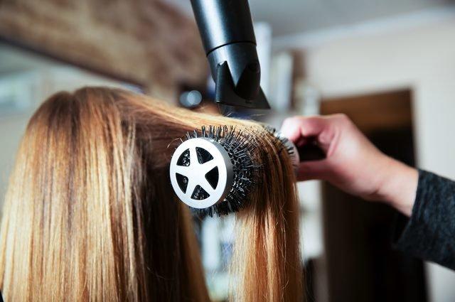 как феном выпрямить волосы
