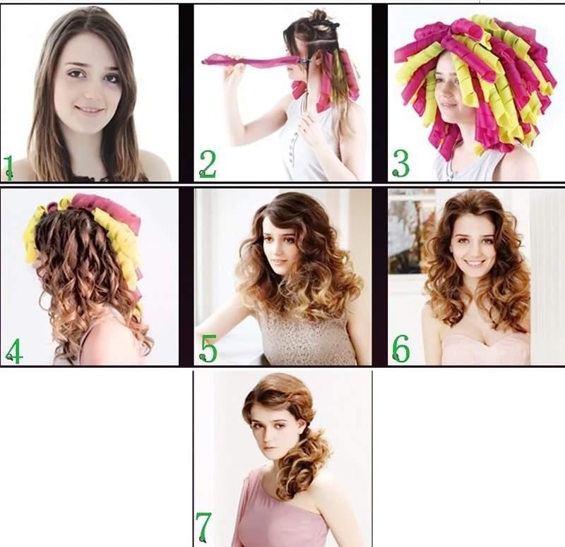 как красиво накрутить волосы на бигуди