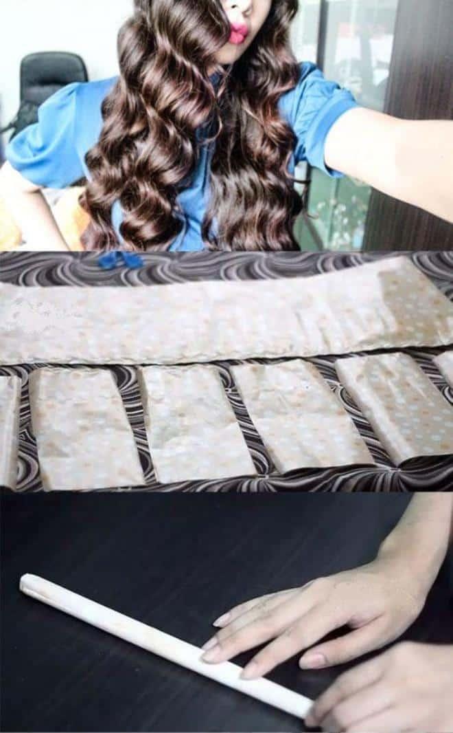 как накрутить бигуди папильотки на длинные волосы