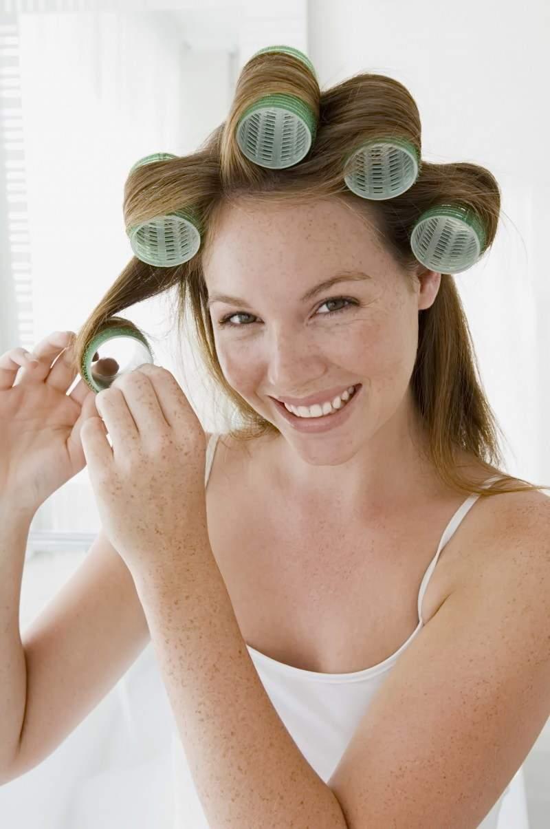 как накрутить волосы длинными бигудями