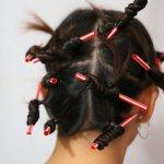 Как накрутить волосы на трубочки для коктейля