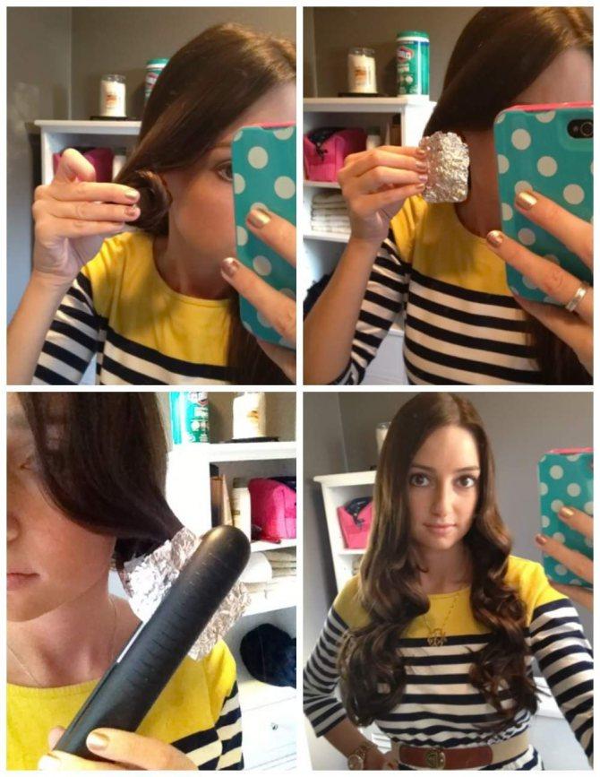 как накрутить волосы на утюжок