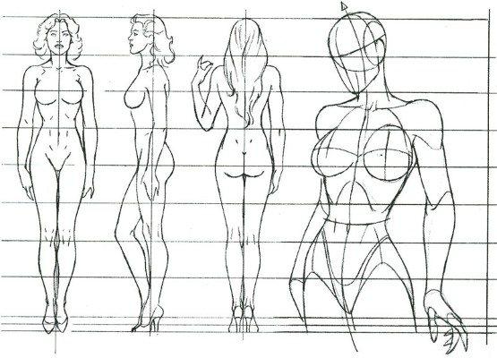 Как нарисовать девушку карандашом поэтапно для начинающих. Лицо, в полный рост, профиль, со спины, сзади, с длинными волосами, короткими
