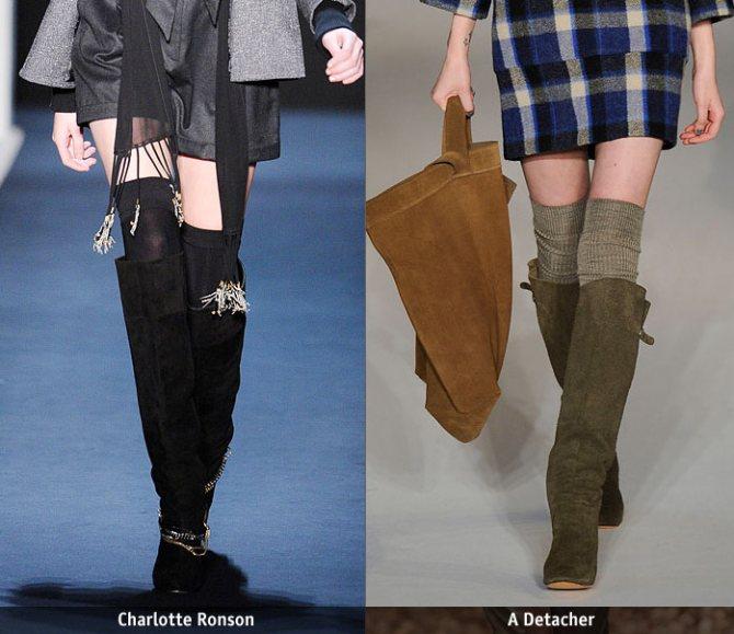 Как носить гетры зимой