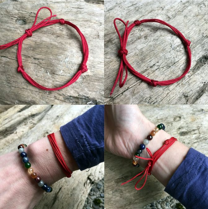 Как носить красную нитку