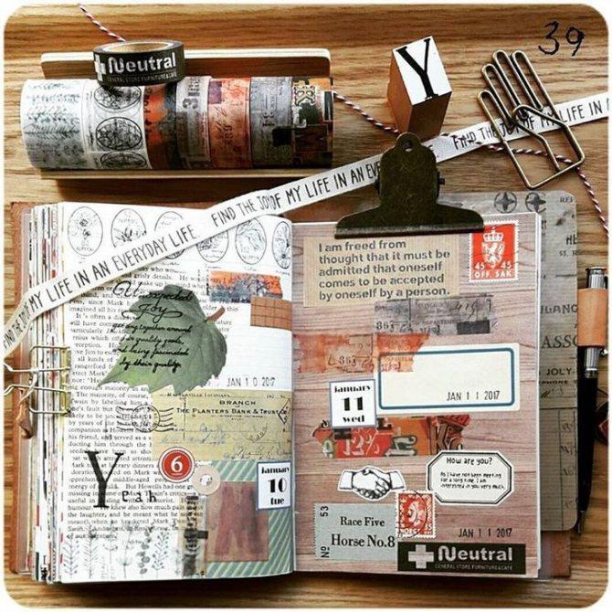 как оформить личный дневник внутри